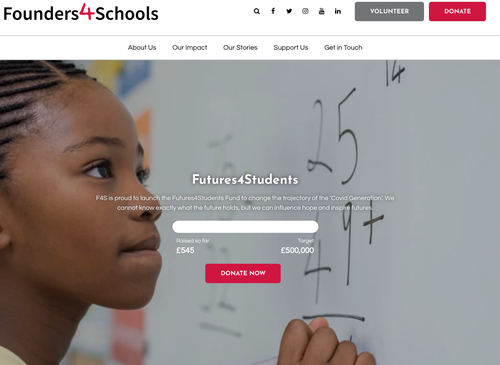 Futures4Students Microsite